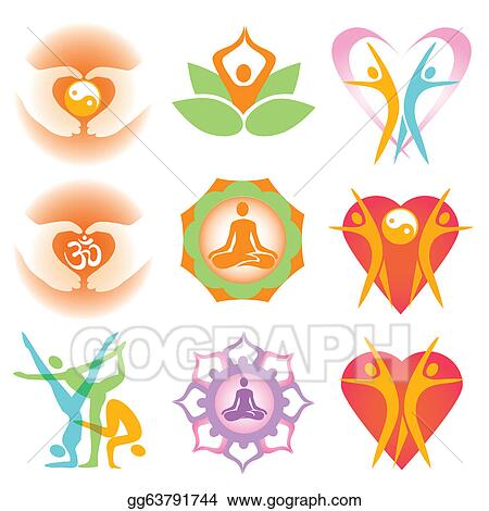 Yoga Health Symbolas Icons