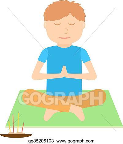 Vector Clipart - Yoga kids illustration   Vector