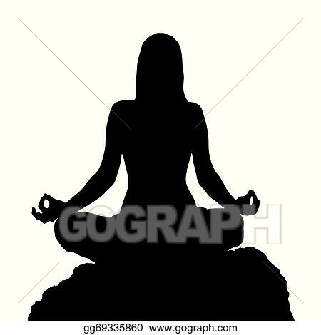 Yoga Lotus Position Silhouette