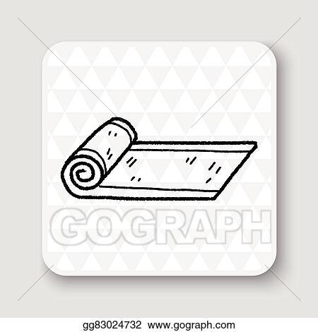 Vector Illustration Yoga Mat Doodle Eps Clipart Gg83024732 Gograph