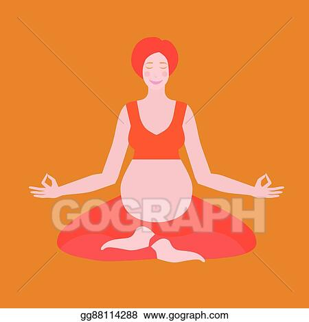 Vector Clipart Yoga Poses For Pregnant Women Future Mother Healthy Lifestyle Exercises Baby Care Motherhood And Fitness Vector Illustration Gg88114288 Gograph