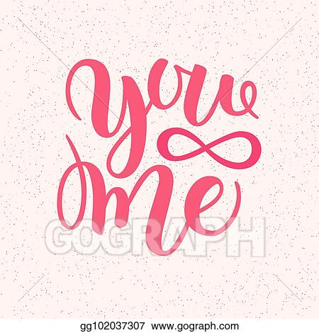 Vector Stock You And Me Modern Calligraphy Lettering