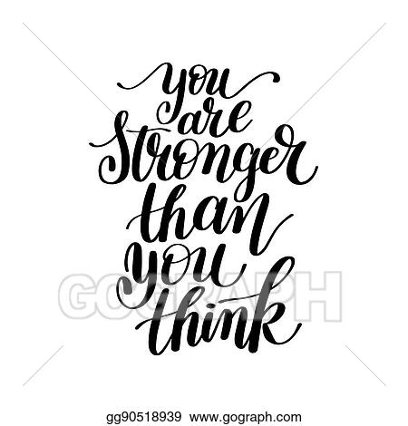 Eps Vector You Are Stronger Than You Think Vector Text Phrase