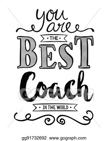 vector clipart you are the best coach in the world vector