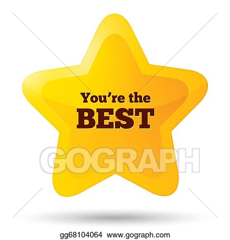 stock illustration you are the best icon customer service award