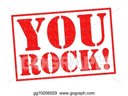 stock illustration you rock clipart illustrations gg70206029 rh gograph com you rock girl clipart you rock clipart images