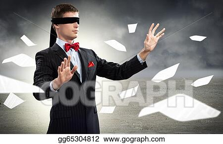 d7a19efd8d8 Drawing - Young blindfolded man. Clipart Drawing gg65304812 - GoGraph