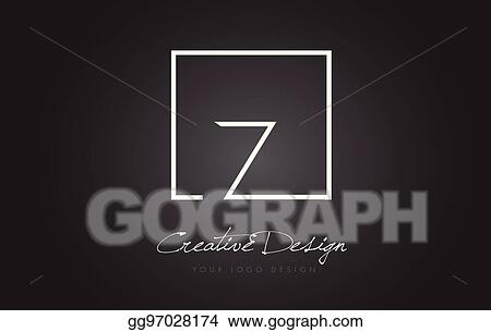 Vector Art Z Square Frame Letter Logo Design With Black And White