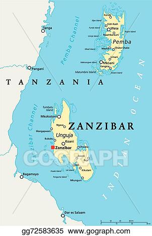 Clip art vector zanzibar political map stock eps gg72583635 gograph zanzibar political map gumiabroncs Gallery