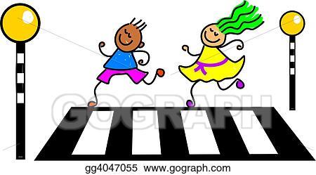 Drawings Zebra Crossing Kids Stock Illustration Gg4047055 Gograph