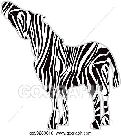 stock illustration zebra print silhouette clipart gg59289618 rh gograph com zebra print numbers clipart zebra print frame clipart