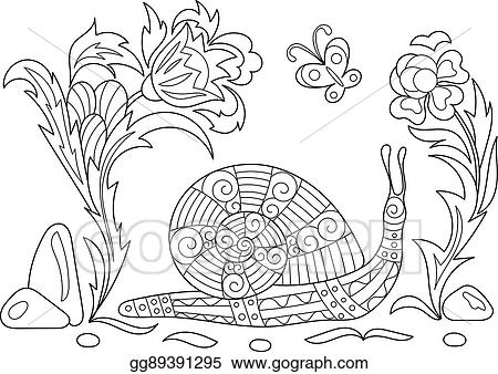 Sketch For Adult Antistress Coloring Page Hand Drawn Doodle Zentangle Floral Design Elements Book