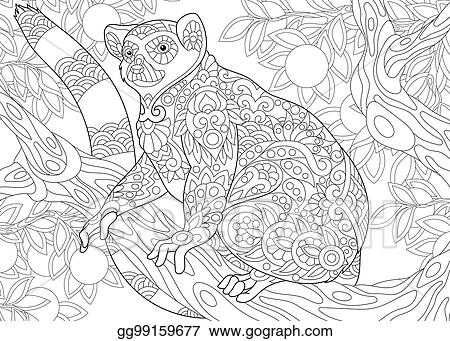 14 lemur coloring page to print - Print Color Craft | 341x450