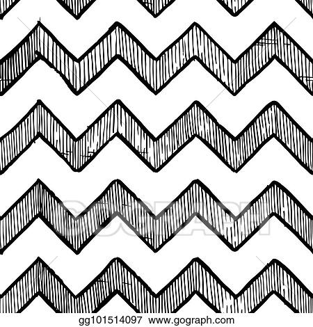 Vector Clipart - Zigzag parallel lines  Vector Illustration