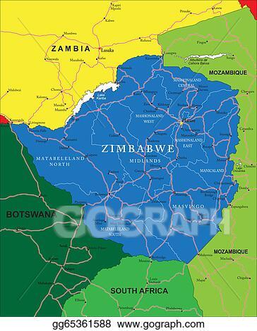 Zimbabwe On Map on