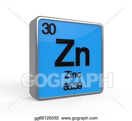Stock Illustration Zinc Element Periodic Table Stock Art