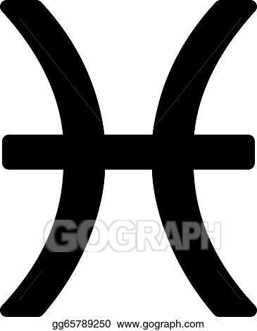 Vector Clipart Zodiac Sign Pisces February 19 March 20 Vector