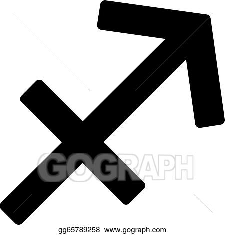 Vector Illustration Zodiac Sign Sagittarius November 22 December