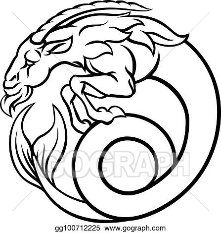 Vector Clipart Zodiac Signs Capricorn Vector Illustration