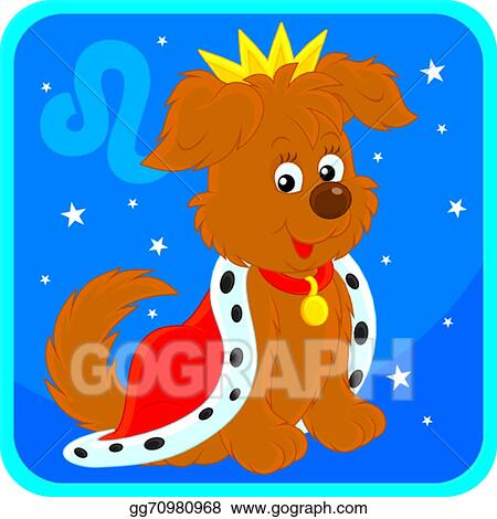 Vector Clipart Zodiacal Sign Of The Lion Vector Illustration Gg70980968 Gograph Mascot lion king wearing crown vector. gograph