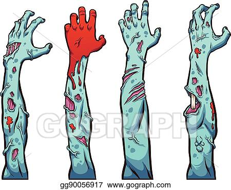 Vector Art Zombie Hands Clipart Drawing Gg90056917 Gograph