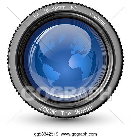 Vector Stock - Zoom the world  Clipart Illustration gg58342519 - GoGraph